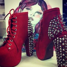 #spikes on a pair of Jeffrey Campbells