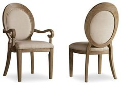 Hooker Furniture Corsica Oval Back Side Chair - Set of 2 - traditional - Dining Chairs - Unlimited Furniture Group