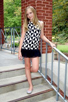 Tween Fashion Photography { child model Bethany Alexis modeling for Elisa B. 2014 / Lipstik Girls }   Jennifer Collins Photography, Florence SC