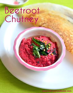 Beetroot Chutney – Beetroot Chutney With Coconut For Dosa, Idli | Chitra's Food Book