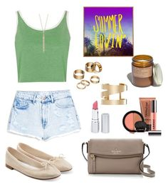 """""""Oh summer..."""" by mshlychenko ❤ liked on Polyvore featuring MANGO, Topshop, Repetto, Apt. 9, Kate Spade, HoneyBee Gardens, Isabel Marant, Blue Nile, LORAC and Madewell"""