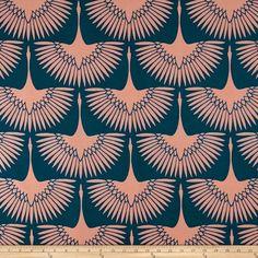 Genevieve Gorder Outdoor Flock Lagoon - Discount Designer Fabric - Fabric.com