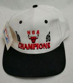 Snapback Hat Chicago Bulls 1996 NBA Champions Vintage Basketball Cap with  Tags!! 15e41328f62