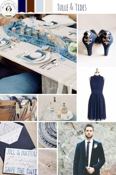 Tulle & Tides – Beach Wedding Inspiration in Vintage Blue and Linen