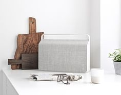 With its Nordic design, this wireless, Bluetooth-enabled wireless speaker is simple to use and portable. Designed and produced by Vifa, one of Scandanavia's most legacied audio companies, this piece has a lithiu Ikea, Duktig, Pebble Grey, Vintage Stil, Nordic Design, Deco Design, Wireless Speakers, Portable Speakers, Decorating Blogs