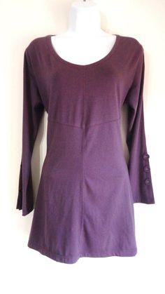 SIMPLY NOELLE Purple Plum Blouse Top Shirt Tunic Hippie Boho Small Medium S/M #SIMPLYNOELLE #Tunic