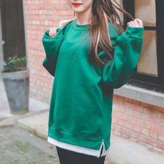 Color block sweatshirt for girls fleece side slit pullover sweatshirts