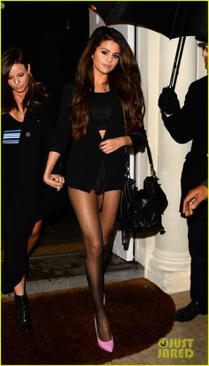 Selena Gomez Shows Off Legs for Days on Night Out in London | samantha droke, Selena Gomez Photos | Just Jared