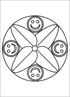 Desenhos para colorir para crianças. Desenhos para imprimir e colorir Mandalas 49