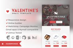 Valentine - Email + Builder Access by theem'on on Creative Market