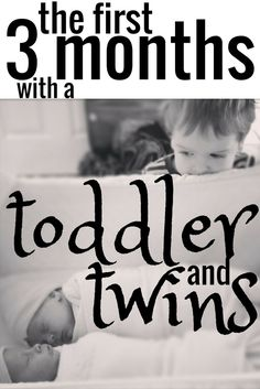 The First 3 months with a Toddler and Twins | Marie Osborne Months 1-3 with my #toddler and #newborn #twins.: