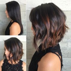 Inverted Bob With Copper Peek-A-Boo