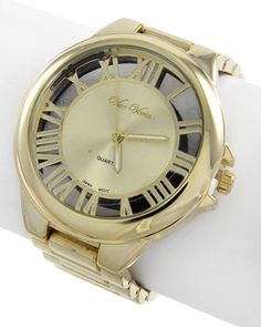 Gold Tone / Lead&nickel Compliant / Metal / Stainless Steel Back / Deployant Clasp / Watch