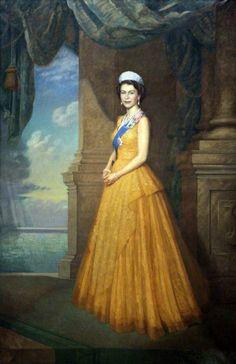 historysquee: Elizabeth II By Edward Irvine Halliday Oil on Die Queen, Hm The Queen, Royal Queen, Her Majesty The Queen, Save The Queen, Queen Elizabeth Portrait, Young Queen Elizabeth, Reine Victoria, Queen Victoria