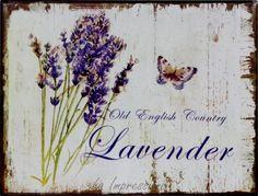 La Impressione - Bytové doplnky - Hodiny a nástenné tabule - Plechová ceduľa Lavender