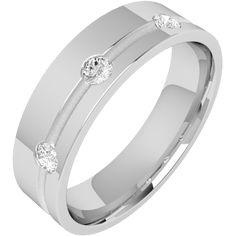 A stylish Round Brilliant Cut diamond set mens ring in 18ct white gold from London family run jewellers, Purely Diamonds, www.purelydiamonds.co.uk