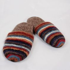 Felted wool slippers for men Felted Wool Slippers, Sheep Wool, Wool Felt, Comfy, Leather, Handmade, Men, Fashion, Moda