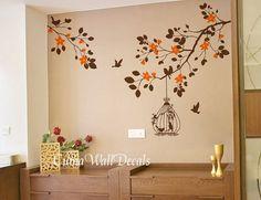 Branch wall decals vinyl Tree wall decal birds wall by cuma, $45.00