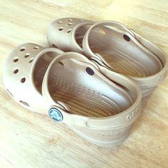 Crocs kids gold Golden crocs. My daughter wore them a couple times. Good condition crocs Shoes Mules & Clogs