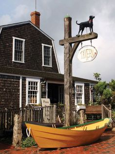 The Black Dog Tavern on Martha's Vineyard - When you move to a town that doesn't have a good year-round restaurant, you build one.