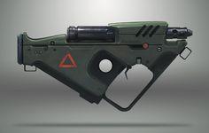 Flame rifle, Trevor Brown on ArtStation at https://www.artstation.com/artwork/flame-rifle