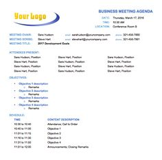 Format Doc Template Best Agenda Template Word Images Of Meeting