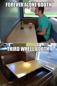 Oh look...finally tables meant for my people:/