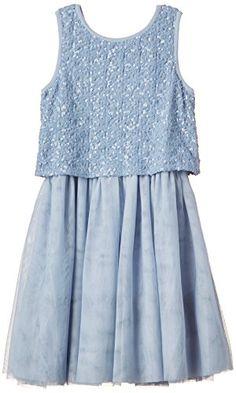 Derhy Kids Sixtine - Robe - Uni - Sans manche - Fille - Bleu (Bleu/Gris) - FR: 14 ans (Taille fabricant: 12/14 ans) Derhy http://www.amazon.fr/dp/B00YXGM9H4/ref=cm_sw_r_pi_dp_UXHQwb13R14WA