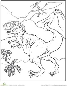 color the fierce tyrannosaurus rex