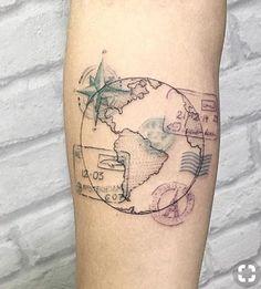 Travel tattoo adventure passport stamps ideas for 2019 - adventu . - Travel tattoo adventure passport stamps ideas for 2019 – adventure travel / tattoos – - Forearm Tattoos, Foot Tattoos, Body Art Tattoos, Sleeve Tattoos, Tatoos, Tattoo Thigh, Tattoo Pain, Wrist Tattoo, Arrow Tattoos