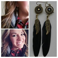 Feather Earring Friday!!!! Links are up on my blog. I ordered these beauties for $1.00 and I love them😍 #detailove1 #fashionfriday #iheartdetails #followfriday #instafollow #l4l #earrings #ootd