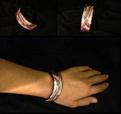 Remake of the original red/silver/black n white cuff