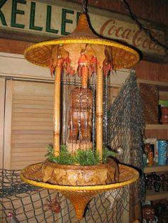 Tiki rain lamp