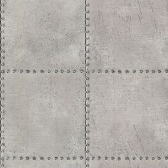 Brewster 2604-21252 Riveted Silver Industrial Tile Wallpaper Silver Tile Wall Coverings Wallpaper NULL