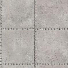 Brewster 2604-21252 Riveted Silver Industrial Tile Wallpaper Silver Tile Home Decor Wallpaper Wallpaper