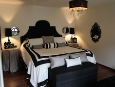 """Black and White Bedroom from DIY user """"snlr"""" >> http://diy.roomzaar.com/rate-my-space/Bedrooms/Black-and-White-with-a-touch-of-gray/detail.esi?oid=23732866=pinterest"""