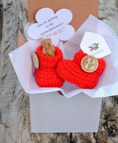 Pregnancy Reveal to Grandparents Auntie by WeDoSmallOriginals
