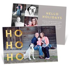 This premium Christmas card features a jolly message on double thick paper and a foil-stamped design on both sides! It's super fancy! #PremiumCards #ChristmasCards #Holiday