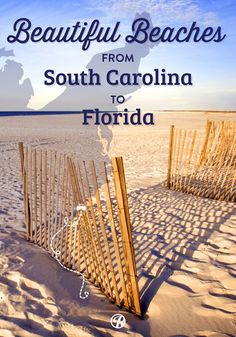 A road trip map of the best beaches from South Carolina to Florida