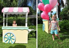 Ice Cream Party invitation pics; ice cream cart made by John Larner, Orlando, FL #icecreamparty