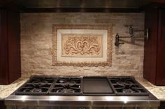 high relief backksplash tiles, View a gallery of each medium-sized tile from Andersen Ceramics, Austin, architectural wall tile, ceramic decoration Decorative Tile Backsplash, Wall Tiles, Stove Backsplash, Tile Steps, Unique Tile, Classic Image, Paris Photos, White Clay, Ceramic Decor
