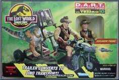 Kenner Jurassic Park: The Lost World D.A.R.T. with Roland Tembo 1997
