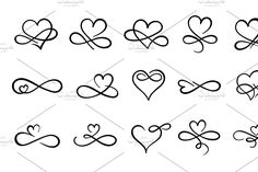 Hand drawn h , Heart With Infinity Tattoo, Love Heart Tattoo, Infinity Tattoo Designs, Infinity Tattoos, Heart Tattoo Designs, Little Heart Tattoos, Infinity Rings, Infinity Symbol, Mom Tattoos