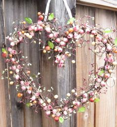 Heart Shaped Wreath with Mauve roses for your by laurelsbylaurie, $55.00
