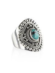 Mie Turquoise Shield Ring