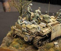 """Farewell of the Faith"" 1/35 scale. By Volker Bemmbennek. German StuG III G. Hungary 1st November 1944. #WW2 #scale_model #diorama #figure_model"