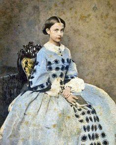 8 by 10 Civil War Photo Print Girl in Blue Dress | eBay