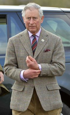 """heinfienbrot: """"A seldom sight: Prince Charles in a Single-breasted Tweed jacket. """""""