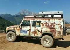"Rusty wrap for #Landrover #Defender 110""."
