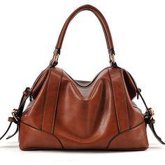 Zipper Faux Leather Belt Details Brown PU Hobo Bag
